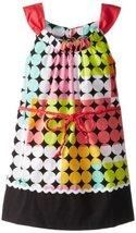 Bonnie Jean Little Girls' Poplin Dot Print Belted Dress, Fuchsia, 5 [Apparel]