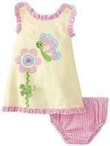 Baby Girls 3M-24M Yellow Butterfly Flower Crossover Back Seersucker Dress (3/...