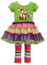 Bonnie Baby Baby-Girls' Bonnie Jean Fox Dress W/ Leggings 12 Months Green