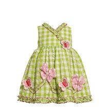 Size-24M BNJ-3178M 2-Piece LIME-GREEN WHITE RUFFLE CROSS-OVER BUTTERFLIES and...