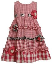 Bonnie Jean Little Girls' Seersucker Dress with Pull Thru Ribbon on Bodice, F...