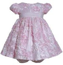 Bonnie Baby Baby-Girls Newborn All Over Bonaz Dress PK1MT, Pink [Apparel]
