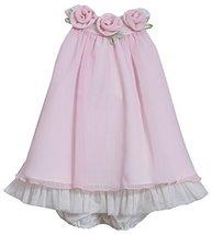 Baby-Girls INFANT 12M-24M Pink Rosette Neckline Chiffon Trapeze Dress, 18 Mon...