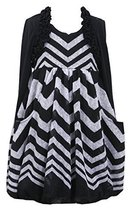 Big Girls Tween Chevron Stripe Knit Bubble Dress with Faux Shrug Jacket, Bonn...