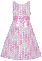 Big-Girls Tween 7-16 Pink White Ombre Bonaz Rosette Taffeta Dress, 12, Pink, ...