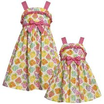 Size-6 BNJ-3316M MULTICOLOR PINK WHITE POLKA DOT TRIM 'Heart-Berry' PRINT Spr...