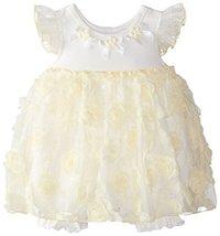Bonnie Baby Baby-Girls Newborn Bonaz Coverall Dress, Yellow, 6-9 Months