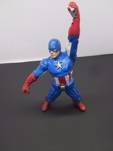 "10"" Captain America 2012 MARVEL Avengers Talking Action Figure Works No ... - $13.75"