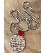 Beach Nautical Charm Necklace May You Always Have A Shell In Your Pocket... - $9.50
