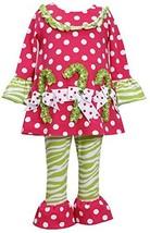 Baby-Girls Newborn Infant 3M-24M Dots and Zebra Stripe Knit Top/Legging Set (...