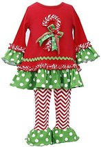 Baby-Girls Infant 12M-24M Bell Sleeve Candy Cane Dress/Legging Set, RD1HB, Re...