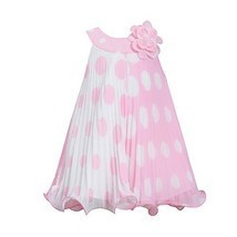 Bonnie Jean Little Girls Pink White Dotted Roses Tent Easter Dress 2T [Appare...