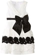 Bonnie Jean Little Girls' Bonaz Crossover Dress, Ivory, 6X [Apparel]