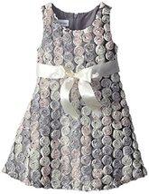 Bonnie Jean Little Girls' Satin Swiral Bonaz Dress, Silver, 6 [Apparel] Bonni...
