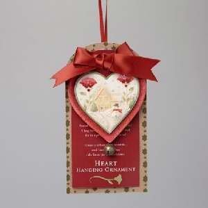 Enesco 75647 Ornament - Heart Of Christmas Heart With Home-Carded - 2.17 in.