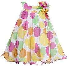 Bonnie Jean Girls Polka Dot Mesh Easter Spring Dress , Yellow , 2T [Apparel]