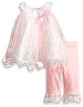Bonnie Baby Baby-Girls Newborn Pastel Trapeze Legging Set, Pink, 3-6 Months B...