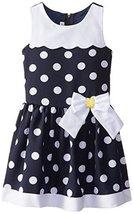 Bonnie Jean Little Girls Dot Nautical Trapeze Dress (4T, Navy/White) [Apparel] image 2