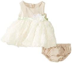 Bonnie Baby-Girls 3M-24M Shantung To Bonaz Dress (18 Months, Beige) [Apparel] image 1