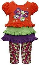 Bonnie Baby Baby Girls' Butterfly Tiered Legging Set, Orange, 12 Months image 2