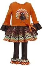 Bonnie Jean Girls Leopard Brush Knit Dress Legging Outfit, Orange, 24M [Apparel]