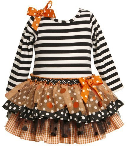 Bonnie Baby Baby Girls' 2 Piece Knit Top, Orange, 12 Months [Apparel]
