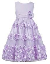 Big-Girls Tween 7-16 Coral Flutter Bonaz Rosette Mesh Overlay Dress, 14, Lave...