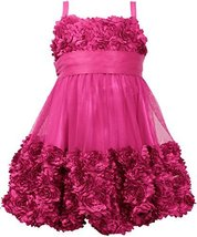Little Girls Toddler Die Cut Bonaz Rosette Bubble Mesh Social Dress, MG2BA, M...