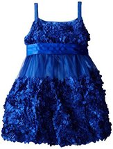 Bonnie Jean Little Girls 2T-6X Die Cut Bonaz Rosette Bubble Mesh Social Dress... image 2