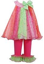 Baby Girls 3M-24M Bright Glitter Dot Trapeze Dress/Legging Set (12 Months, Fu... image 2