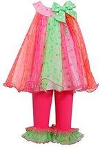 Baby Girls 3M-24M Bright Glitter Dot Trapeze Dress/Legging Set (24 Months, Fu... image 1