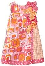 Bonnie Jean Little Girls' Geometric Print Shift Dress BAFU2, Fuchsia [Apparel] image 1
