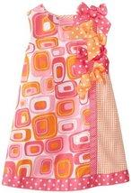 Bonnie Jean Little Girls' Geometric Print Shift Dress BAFU2, Fuchsia [Apparel] image 2