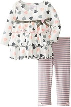 Bonnie Jean Little Girls Toddler 2T-4T Heart Print Knit Tiered Legging Set, G... image 1