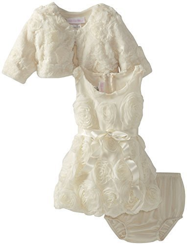 Bonnie Baby Baby Girls' Bonaz Bubble Dress with Jacket, Ivory, 24 Months