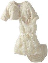 Bonnie Baby Baby Girls' Bonaz Bubble Dress with Jacket, Ivory, 24 Months