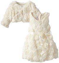Bonnie Jean Little Girls' Bonaz Bubble with Jacket, Ivory, 4T [Apparel] Bonni...