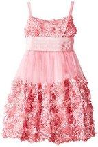 Bonnie Jean Little Girls' Bonaz Bubble Dress, Rose, 6X [Apparel] image 2