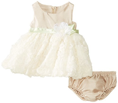 Bonnie Baby-Girls Newborn Shantung To Bonaz Dress, Beige, 3-6 Months [Apparel]