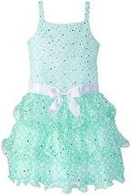 Big-Girls TWEEN 7-16 Pink White Sparkle Dot Tier Chiffon Drop Waist Dress (10... image 2