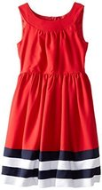 Bonnie Jean Little Girls' Red Nautical Dress (6X, Red) [Apparel] image 2