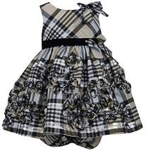 Baby-Girls Infant 12M-24M Gold Metallic Plaid Bonaz Taffeta Dress, GD1HB, Gol...