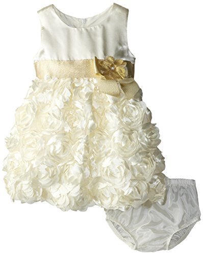 Bonnie Baby Baby Girls' Bonaz Dress, Ivory, 18 Months [Apparel]