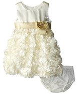 Bonnie Baby Baby Girls' Bonaz Dress, Ivory, 18 Months [Apparel] - $39.50