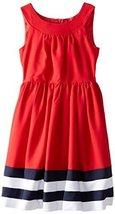 Bonnie Jean Big Girls' Nautical Dress, Red, 7 [Apparel] image 2