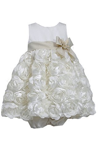 Bonnie Baby Baby Girls' Bonaz Dress, Ivory, 24 Months [Apparel]