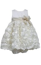 Bonnie Baby Baby Girls' Bonaz Dress, Ivory, 24 Months [Apparel] image 1