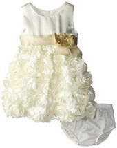 Bonnie Baby Baby Girls' Bonaz Dress, Ivory, 24 Months [Apparel] image 2