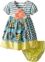 Bonnie Baby Baby Girls' Stripe To Mixed Print Skirt, Aqua, 18 Months [Apparel]