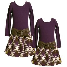 Bonnie Jean Girls 4-6X Knit Top To Boucle Skirt, Purple, 6 [Apparel]
